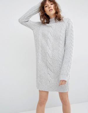 Gestuz Платье-джемпер Sanni. Цвет: серый