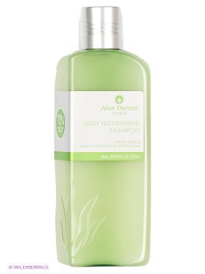 Шампунь Aloe Derma. Цвет: серо-зеленый, светло-зеленый
