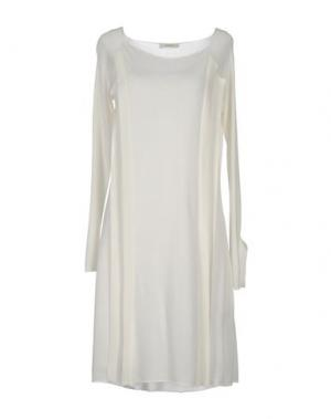 Платье до колена MANOSTORTI. Цвет: белый