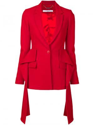 Блейзер с драпировкой Givenchy. Цвет: красный
