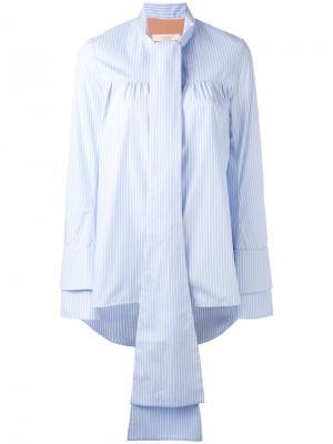 Блузка с длинными завязками Ssheena. Цвет: белый
