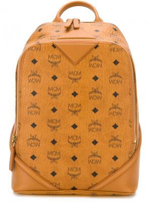 Рюкзак с графическим принтом MCM. Цвет: коричневый