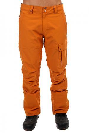 Штаны сноубордические  Reason Pumpkin Spice Quiksilver. Цвет: оранжевый