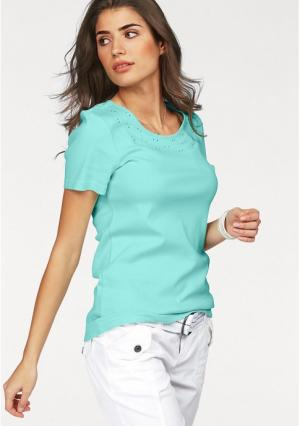 Кофточка BOYSENS BOYSEN'S. Цвет: нежно-зеленый, серый меланжевый, ярко-розовый