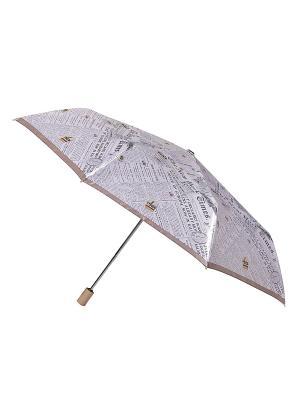 Зонт Fabretti. Цвет: сиреневый, светло-серый, белый