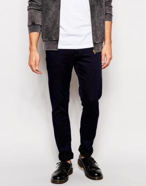 Zee Gee Why Супероблегающие джинсы. Цвет: синий