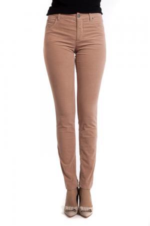 Классические джинсы Oui. Цвет: бежевый