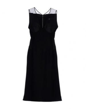 Платье до колена 6267. Цвет: черный