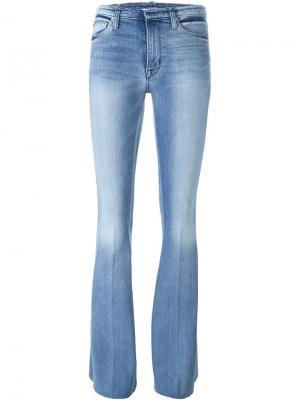 Расклешенные джинсы Tyler Hudson. Цвет: синий