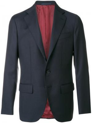 Пиджак на пуговицах Caruso. Цвет: синий