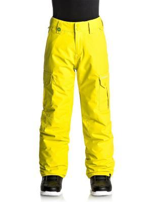 Брюки сноубордические Quiksilver. Цвет: желтый, светло-желтый