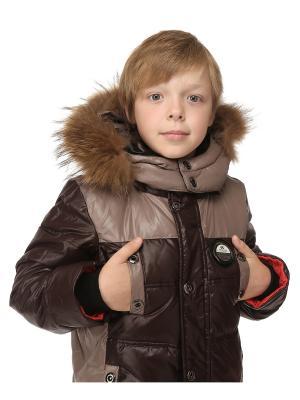 Куртка для мальчиков TOPKLAER. Цвет: коричневый, красный