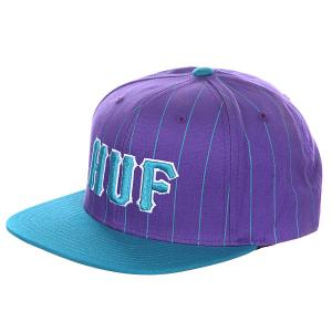 Бейсболка  Classic Pinstripe Starter Blue/Purple Huf. Цвет: фиолетовый,голубой