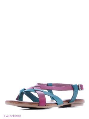 Сандалии Dino Ricci. Цвет: бирюзовый, фиолетовый