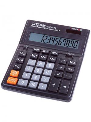 Калькулятор карманный FS-60BKII 8 разрядов, двойное питание, 68*97*12 мм, черный CITIZEN. Цвет: черный