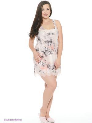 Сорочка ночная Rose&Petal. Цвет: серый