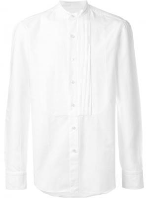 Рубашка с воротником-мандарин Salvatore Piccolo. Цвет: белый