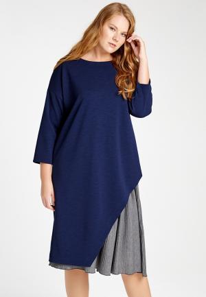 Платье W&B. Цвет: синий
