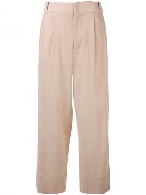Укороченные расклешенные брюки Isabel Marant. Цвет: телесный