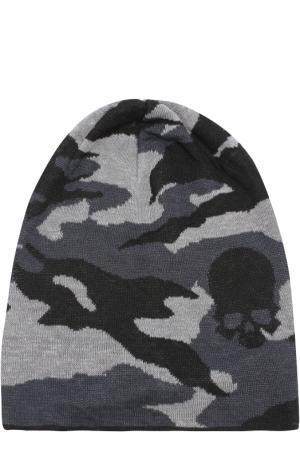 Льняная шапка с камуфляжным принтом Gemma. H. Цвет: черный