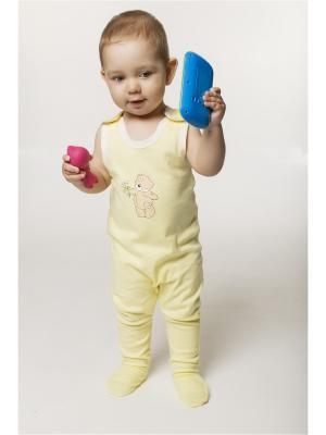 Комбинезон ORANGE BABY. Цвет: светло-желтый, бежевый