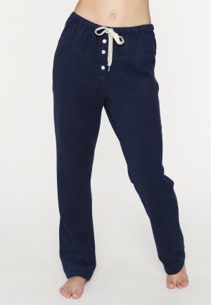 - Nell Длинные кальсоны Мягкие домашние брюки темно-синего цвета SUNDAY IN BED