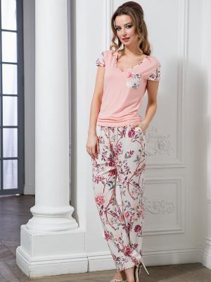 Пижама MIA-MELLA. Цвет: молочный,бледно-розовый