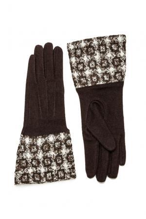 Перчатки из шерсти 173769 Moltini. Цвет: коричневый
