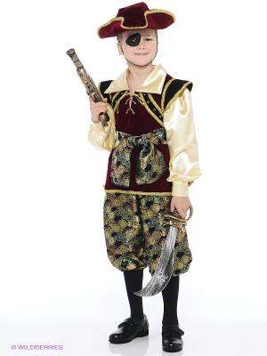 Карнавальный костюм КОРСАР Батик. Цвет: бордовый