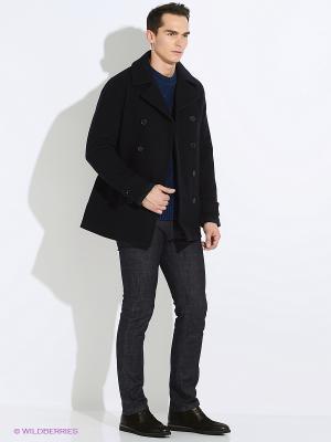 Пальто Fred Perry. Цвет: синий