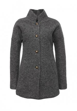 Пальто Aurora Firenze. Цвет: серый