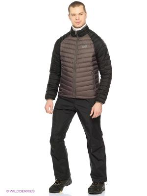 Брюки CLOUDBURST PANTS MEN Jack Wolfskin. Цвет: черный