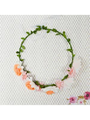 Венок с цветами Bizon. Цвет: оранжевый