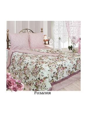 Постельное белье Евро Sova and Javoronok. Цвет: бледно-розовый, белый, светло-бежевый