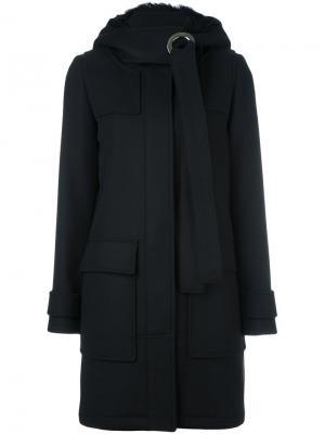 Пальто с капюшоном Proenza Schouler. Цвет: чёрный