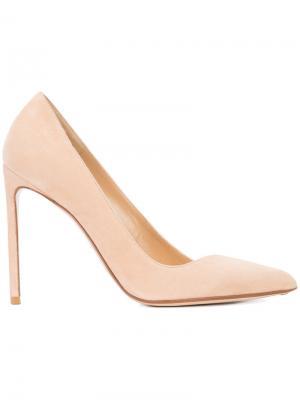 Туфли с асимметричным дизайном Francesco Russo. Цвет: телесный