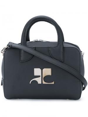 Маленькая сумка-тоут Courrèges. Цвет: чёрный
