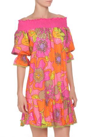 Платье 22 MAGGIO. Цвет: розовый