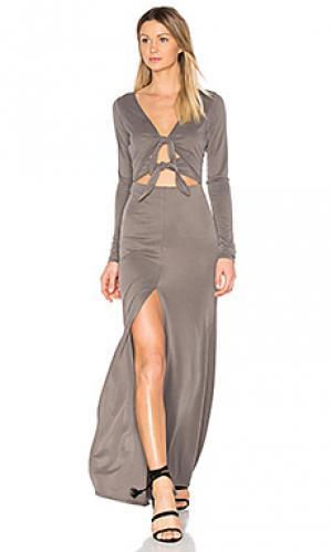 Tied up dress Stillwater. Цвет: серый