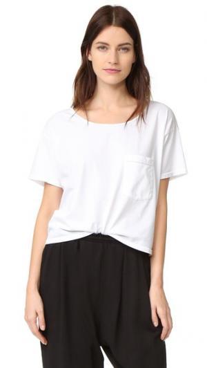 Свободная футболка с карманом Oak. Цвет: мел