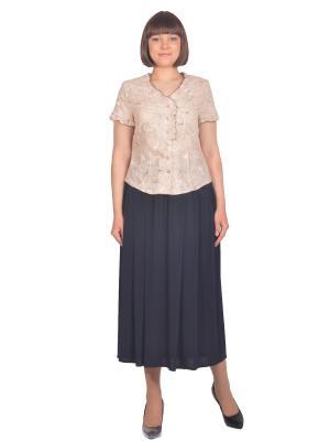Блузка Томилочка Мода ТМ. Цвет: бежевый