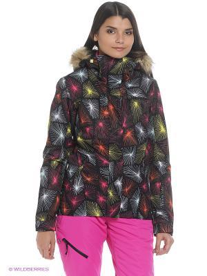 Куртка ROXY. Цвет: антрацитовый, темно-серый, черный