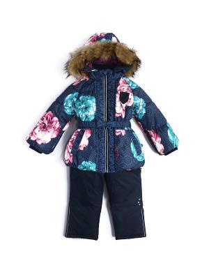 Комплект зимний (куртка+полукомбинезон) NELS. Цвет: темно-синий