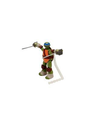 Заводная фигурка Черепашки-ниндзя 15см Суперколесо Лео Playmates toys. Цвет: зеленый, коричневый