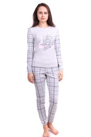 Пижама СВIТАНАК. Цвет: светло-серый, набивка