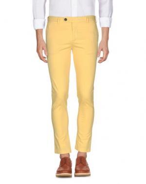 Повседневные брюки DAVID NAMAN. Цвет: желтый