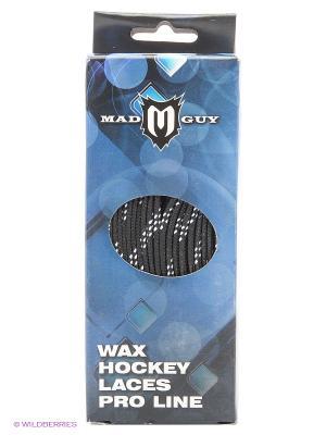 Шнурки для хоккейных ботинок MAD GUY. Цвет: черный