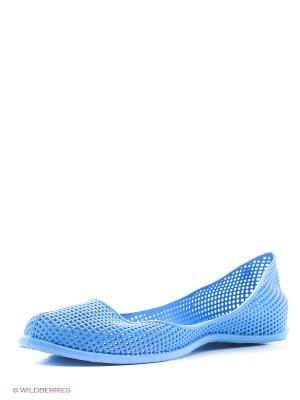 Балетки Алми. Цвет: голубой