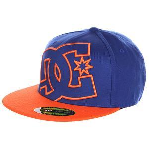 Бейсболка DC Ya Heard Hats Royal/Hazard Shoes. Цвет: синий,оранжевый