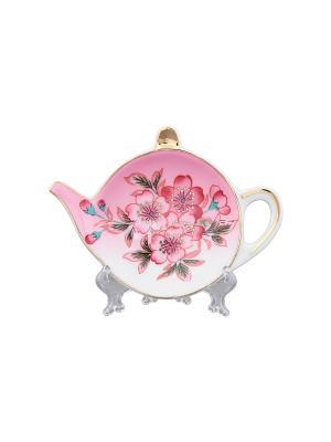 Подставка под чайный пакетик Сакура Elan Gallery. Цвет: розовый